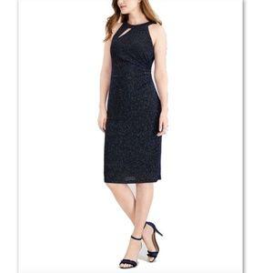 NWT MSK Halter Sparkle Metallic Sheath Dress 6 & 8
